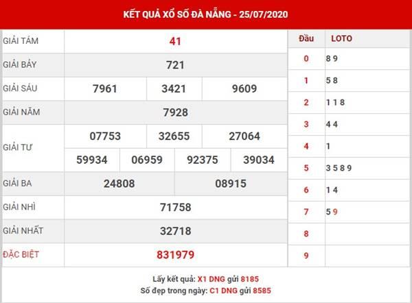 Thống kê xổ số Đà Nẵng thứ 4 ngày 29-7-2020
