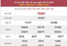 Thống kê XSMB 10/7/2020 chốt KQXS miền Bắc thứ 6