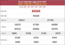 Thống kê XSMB 21/1/2021 chốt lô VIP miền Bắc siêu chuẩn