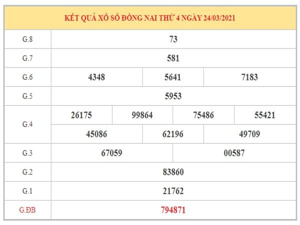 Thống kê KQXSDN ngày 30/3/2021 dựa trên kết quả kì trước